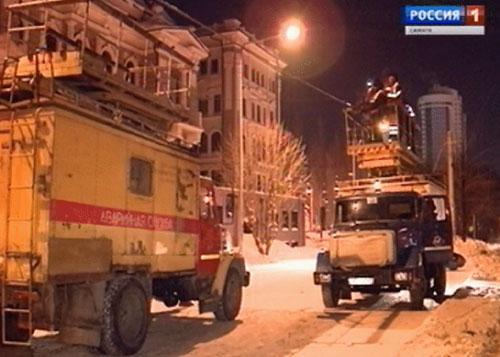 ВСамаре наНово-Садовой тяжелый строительный кран снес трамвайную опору